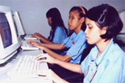 Blind Students of AICB Learning Computer