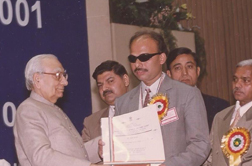 S.S. Pathak, receiving  Best Employee National Award from President of India, our  ex-trainee receiving  Best Employee National Award  from the then  President of India