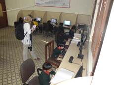 Atlas Norway representative with AICB School students in Computer Lab