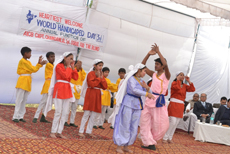 School children giving dance performance